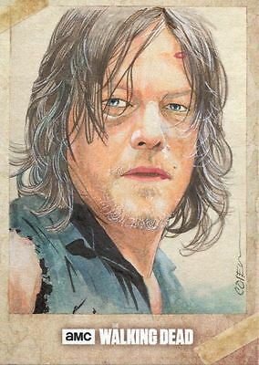 The Walking Dead Season 6 Sketch Card By Roy Cover