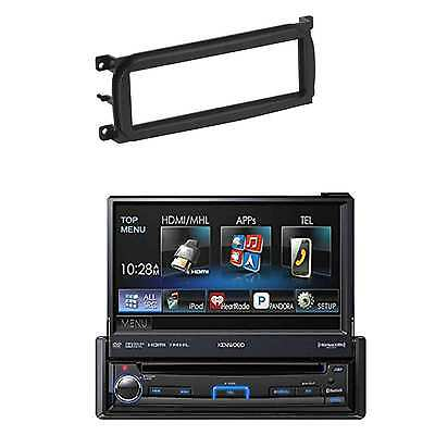 """Kenwood KVT7012BT 7"""" WVGA 1-DIN DVD Receiver and Dash kit for 1-DIN/ISO Radios"""
