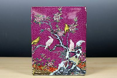 Fine Beautiful Chinese Famille Rose Porcelain Flowers and Birds Brush Pot