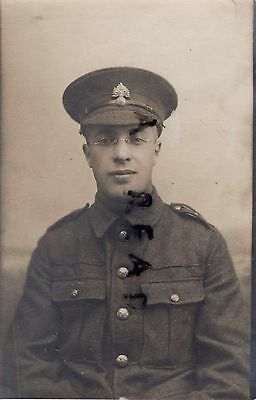 WW1 bespectacled soldier Pte Royal Fusiliers
