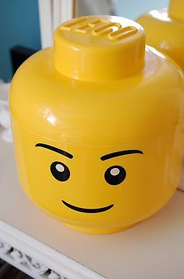 Lego Storage Head Smiling Boy Large size 11 inches tall
