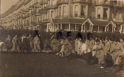 WW1 soldier group Ladies WAAC Womens Army Auxiliary Corps Egg Race Hastings