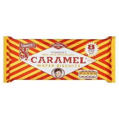 Tunnock's Real Milk Chocolate Caramel Wafer Biscuits Multipack 8 x 30g