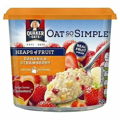 Quaker Oats Heaps of Fruit Banana & Strawberry Perfect Creamy Porridge 58g