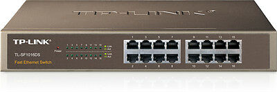 NEW! TP-Link TL-SF1016DS 16-Port 10/100Mbps Switch