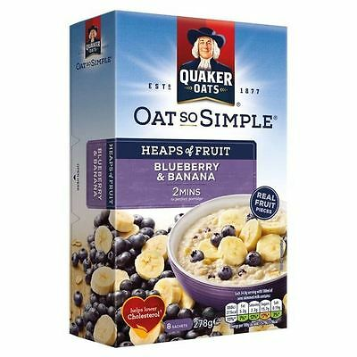 Quaker Oat So Simple Blueberry & Banana 8 x 34.8g