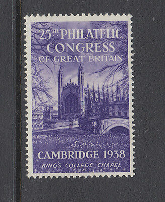 CAMBRIDGE - KING'S COLLEGE CHAPEL - 1938 - 25th PHILATELIC CONGRESS OF GB. - (2)