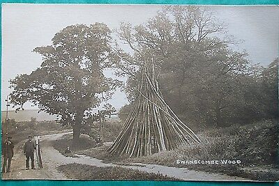 Kent RP. Swanscombe Wood. Social History. by W. Rooke. Drying Wooden Stakes.