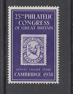 CAMBRIDGE - QUEEN'S COLLEGE - 1938 - 25th PHILATELIC CONGRESS OF GB. - (3)