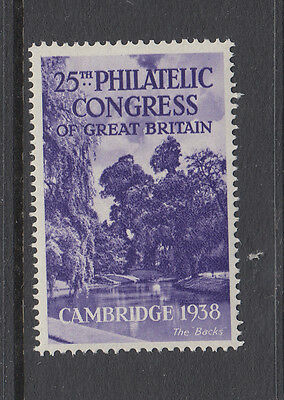CAMBRIDGE - THE BECKS - 1938 - 25th PHILATELIC CONGRESS OF GB. - (5) -CINDERELLA