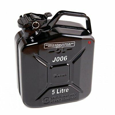 Jerry Fuel Can 5 Litre Ltr Black Metal Diesel Gasoline Petrol Oil Kerosene Army