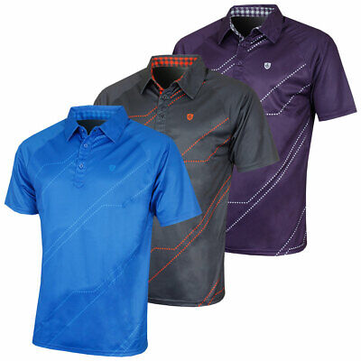32% OFF RRP Island Green 2017 Mens Digi Detail CoolPass Tech Golf Polo Shirt