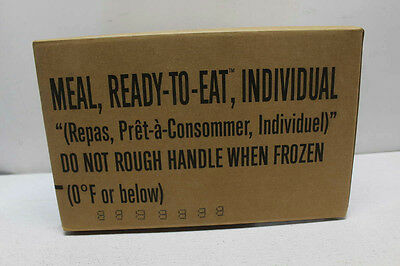 MRE, 12 Individual Ready To Eat Meals, 87459
