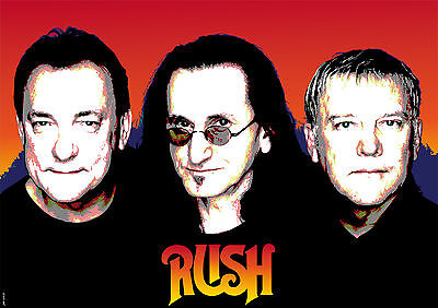 Rush A3 Size Art Poster Print Limited Edition