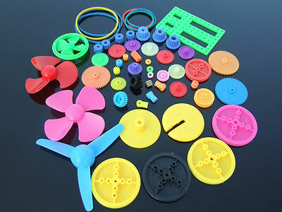 NEW Colorful DIY 55 kinds of color plastic gear Gearbox toy car Motor gear Hot