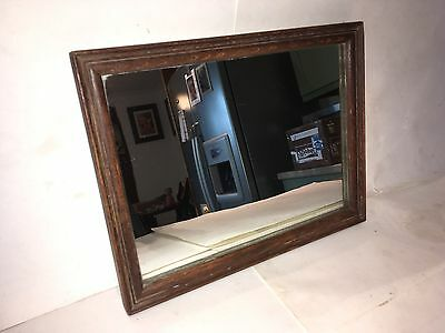 Edwardian Small Oak Framed Mirror