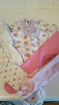 Mixed baby girls bundle age 3-9 months girls tights and baby grows
