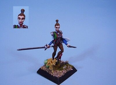 Confrontation painted miniature female Duelist
