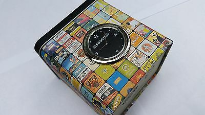 Fossil Retro Design Storage Tin (Can) with Clock