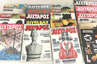 Lot of 21 Juxtapoz back issues
