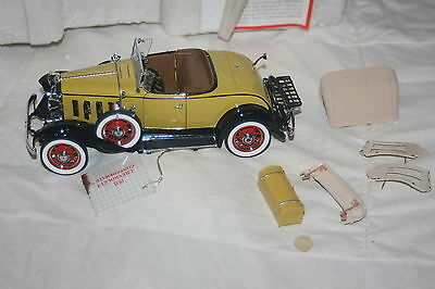 Franklin Mint 1932 Chevrolet Confederate Roadster 1:24 Die Cast Model
