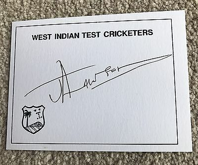 Jermaine Lawson - West Indies Jamaica & Leicestershire Autographed Card