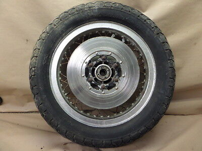 1976 Honda Goldwing Gl1000 K1 Rear Wheel Tire Mt90H17 With Brake Disc