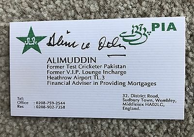 Alimuddin - Pakistan & Karachi Autographed Business Card