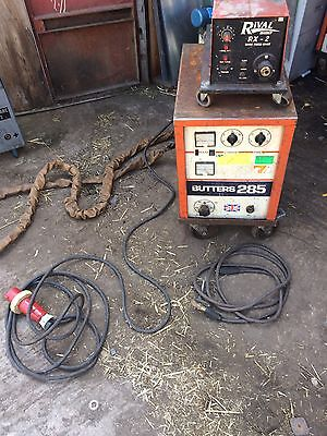 BUTTERS 285 200 - 300A MIG WELDER C/W Wire FEED. 415V 3 PHASE