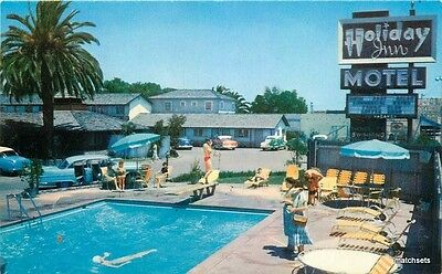 1950s Swimming Pool Holiday Inn Motel Santa Clara California Schwabacher 2918