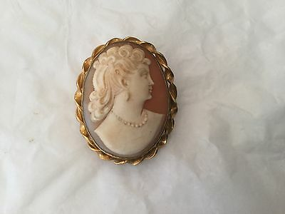Hobson shell cameo 1/20th 12k gold filled