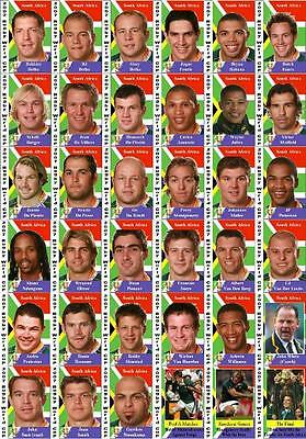 South Africa Rugby Union World Cup winners 2007 Trading Cards