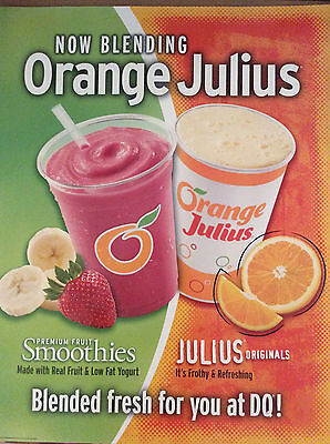 Dairy Queen Promotional Poster Orange Julius Blending Fresh For You At DQ