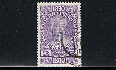 STAMPS   from  AUSTRIA  1910  FRANCIS JOSEPH  2h   (FU)  lot 193