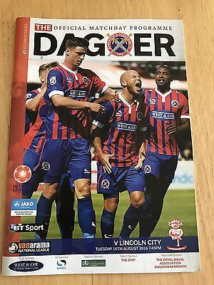 Dagenham & Redbridge v Lincoln City 2016/17 Programme - National League