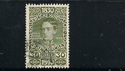 L@@K STAMPS   from  AUSTRIA  1910  FRANCIS JOSEPH  30h (Fine Used)  lot A193a