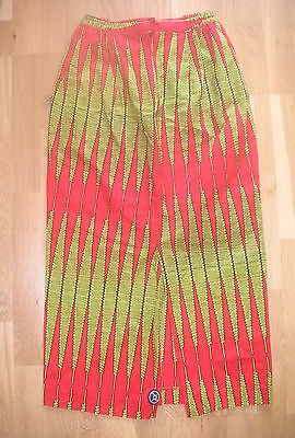 Vintage AFRICAN WAX LONG SKIRT Tribal Ancienne Jupe Robe Africaine Afrique