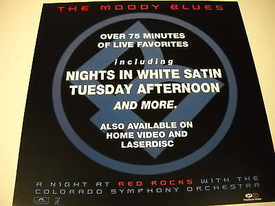 MOODY BLUES 2-sided PROMO COLLECTOR FLAT Red Rocks MINT