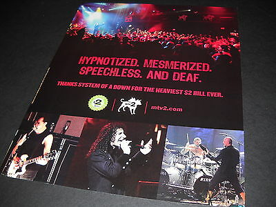 SYSTEM OF A DOWN Hypnotized Mesmerized Speechless and Deaf 2005 PROMO DISPLAY AD