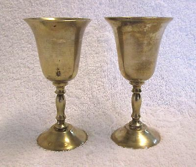 Lot of 2 Hudson Bay Company Brass Goblets Made in India gcc1