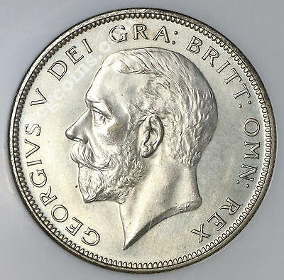 1927 NGC PF 64 Silver PROOF 1/2 Crown 15K Minted GREAT BRITAIN Coin (17041601C)