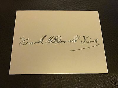 Frank King - West Indies & Barbados Autographed Card
