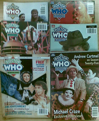 DOCTOR WHO MAGAZINE :  ISSUES 181 to 260   - MOST ISSUES AVAILABLE -  £3.00 EACH