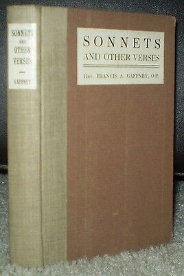 Rare, Francis Gaffney Signed, 1916, 1St Ed, Sonnets And Other Verses, Poetry