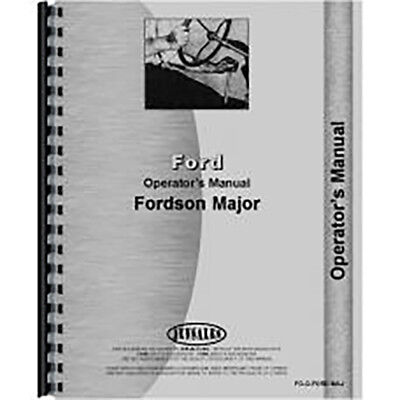 Operators Manual For Ford Fordson New Major Tractor (1953-1958) (Gas and Diesel)