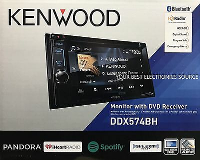 "NEW KENWOOD DDX574BH 2-DIN Bluetooth DVD/CD/AM/FM Car Receiver 6.2"" Touchscreen"
