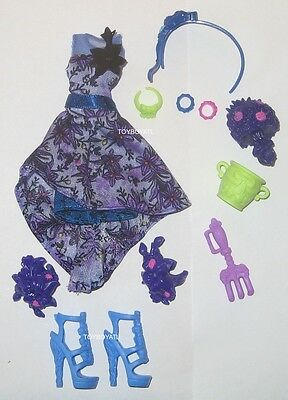 Monster High Gloom and Bloom Catrine DeMew Doll Outfit Clothes Dress & Shoes NEW