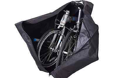 "Ammaco Folding Bike Transport Bag Up To 20"" Wheel Bikes Black Water Resistant"