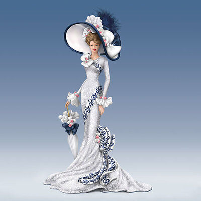 Afternoon at Ascot Lady Figurine  Victorian Promenade Bradford Exchange