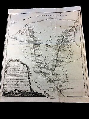 NAVIGATIONAL CHART OF DELTA NILE 1700s